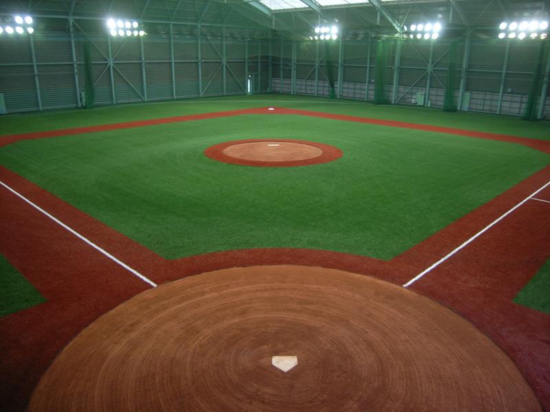 近畿大学野球部生駒室内練習場 完工写真