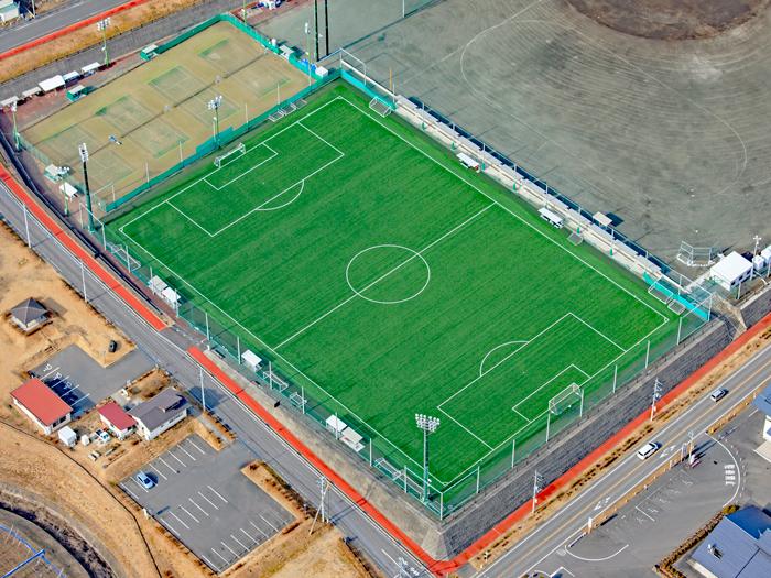 しんとう総合グラウンドサッカー場 完工写真